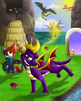 CE: Spyro's Kingdom by CartoonSilverFox