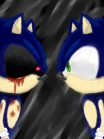 Sonic.exe vs. Sonic The Hedgehog by JustASonicFan