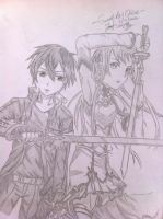 Sword Art Online Kirito and Asuna by spectra6234
