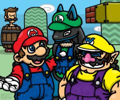 Super -ario Bros. by professorhazard