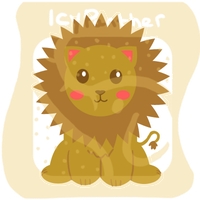 Chibi Lion by IcyPanther1