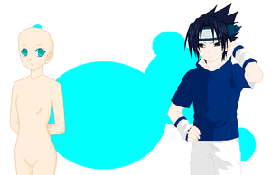 Base 18: sasuke x OC by Pixel--Twins