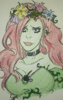 Poison Ivy sketch #2 by AlexaXVMichaelis