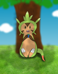 Chespin - eating time by Julie-H