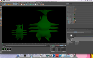 3D Game Project Models In-Progress by Cabriola