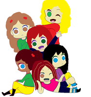 chibi girls SP 2 by queenlisa