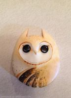 Owl Buddy - English Barn Owl by Gatobob