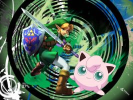 Link And Jigglypuff by PiplupSTARSCommander