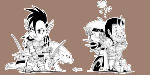WoW Chibis - Round 1 by Yula568