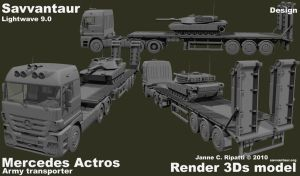 Army transporter by chameleon-unwf