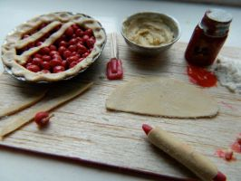 Cherry Pie Prep Board 3 -details- by sonickingscrewdriver