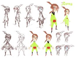 jOanna - Initial Char Designs by Wardyworks