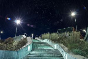 Stairway at night by RobinHedberg
