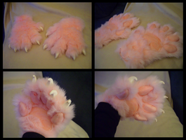 Bubblegum Cat Paws by CuriousCreatures