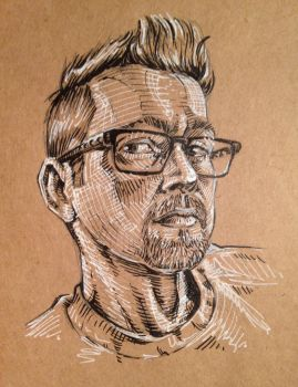 Self portrait sketch by kyle-roberts
