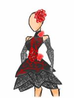Fashion Design - 'Gothic Rose' by ImaginationDiva