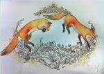 Foxes by KHArt08
