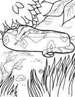 Boa Constrictor Line Art 4 by mrinx