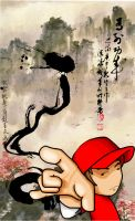 Character and chinese painting by hellbydante