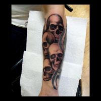 Skull tattoo by kshandor