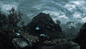 Epic Skyrim wallpaper by Mallony