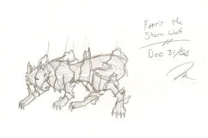 Fenrir the Storm Wolf by Draxen