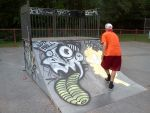Fun at the skate park by Reago