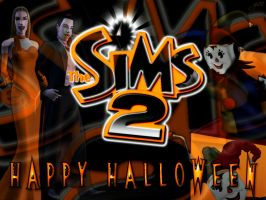 Sims 2 Happy Halloween by garnettrules21
