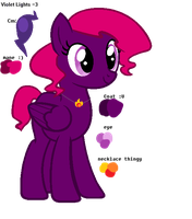 New Oc: Violet Lights by hintoncole