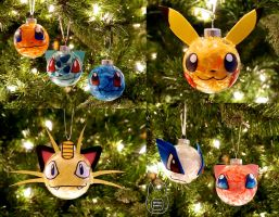Pokemon Ornaments (Tutorial) by studioofmm