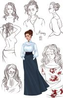 Sketch Page_Aubrey by BlackBirdInk