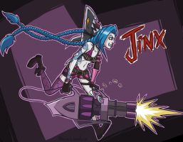 LoL: Jinx by StevieWunderz