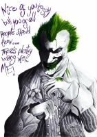 Sick Joker by VelvetRedBullet
