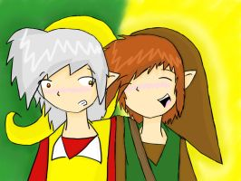 Yellowfire x Cindar with background by OniChick63