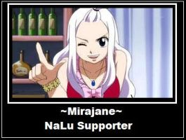 Mirajane: NaLu Supporter ver.2 by Akumaki
