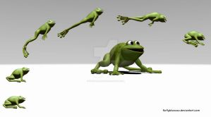 Game Art - Frog Jump Animation by FluffyBlueCow