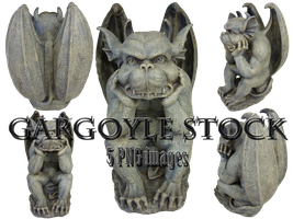 Gargoyle Stock - PNG by rockersiren