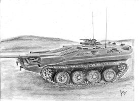 Stridsvagn 103 - S Tank by p40kittyhawk