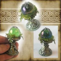Green Fairy Crystal Ball 2 by grimdeva