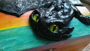 *SOLD* Toothless wooden trinket box 2 by stephanie1600