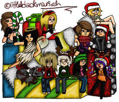 ::With Friends At Christmas:: by littleblackmariah