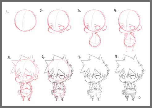 Step by Step : Chibi by kaidoptables