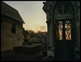 Dusk on the grave by NervousTears