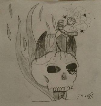 Skull based on suggestions from my friends. by Lunalover98