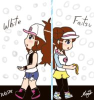White and Faitsu - PokeSPE Girls by SakuraPrincess11