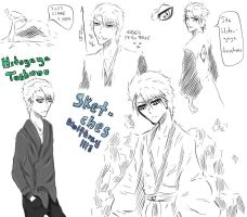 Toshiro sketches by Wolftrey1113