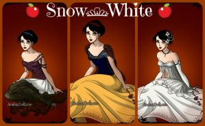 Ribbet collage Snow White by autumnrose83