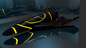Spaceship showroom model (dark red) by Mikey-Spillers