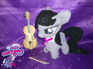 Chibi Octavia plush with hand made wooden cello by angel99percent