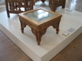 Glass Topped Table by rifka1